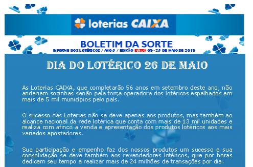 dia do lotérico
