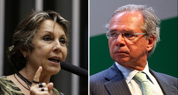 Paulo Guedes e Erika Kokay