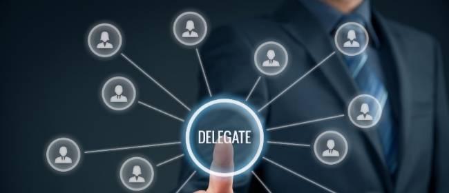delegar funções